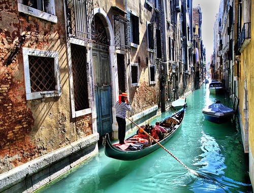 Narrow Canal, Venice, Italy