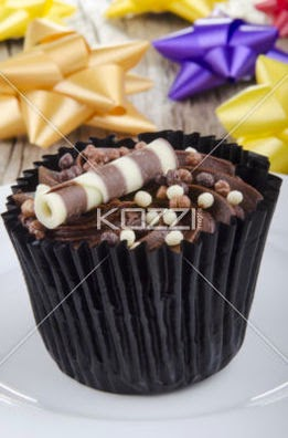 Chocolate Cupcake With Choco Chrunchies