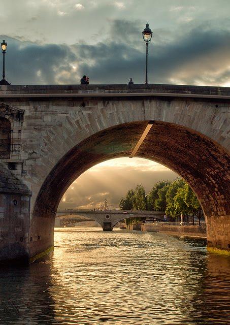 Romance, River Seine, Paris, France