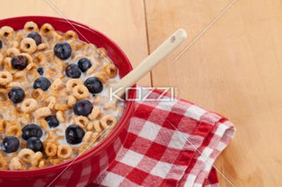 Cereal With Table Napkin And Spoon